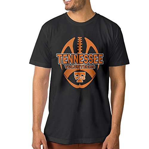 ElishaJ Men's University Of Tennessee Fashion Cotton Tee Black Size XXL (Tennessee Schedule Watch)