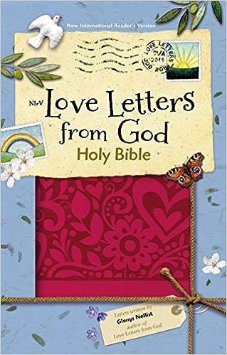 nirv love letters from god holy bible leathersoft magenta glenys nellist 0025986759728 amazoncom books