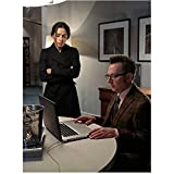 Person of Interest (TV Series 2011 - ) 8 Inch x10 Inch Photograph Michael Emerson Using Laptop w/Sarah Shahi Looking On kn