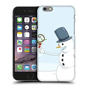 NICE CASE Christmas Hungry Snowman Snap-on Hard Back Case Cover for Apple iPhone 6 Plus (5.5 inch) by ruishername
