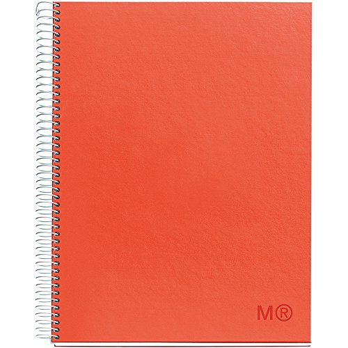 Candy Colors Spiral-Bound Ruled Notebook 8.5x11-Cherry