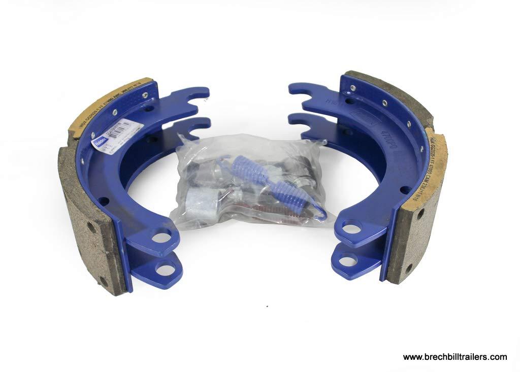 Trailer Parts Pro 12-1//4x4 PQ Style Air Brake Shoe//Linings w//Repair Kit BP22-017