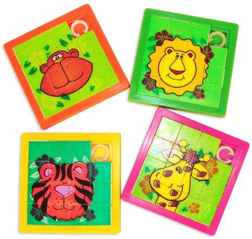 Zoo Animal Slide Puzzles Dozen