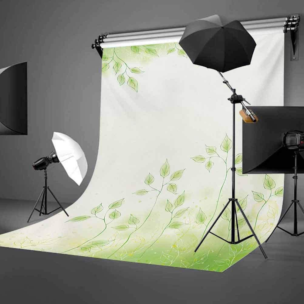 8x10 FT Photo Backdrops,Fresh Foliage Design with Pastel Colored Leaves Botanic Environment Eco Purity Image Background for Kid Baby Boy Girl Artistic Portrait Photo Shoot Studio Props Video Drape