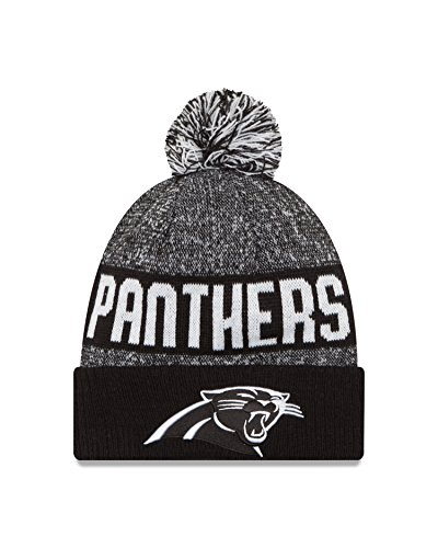 New Era NFL Carolina Panthers 2016 Sport Knit Beanie, One Size, Black/White (Panthers Watch Sports)