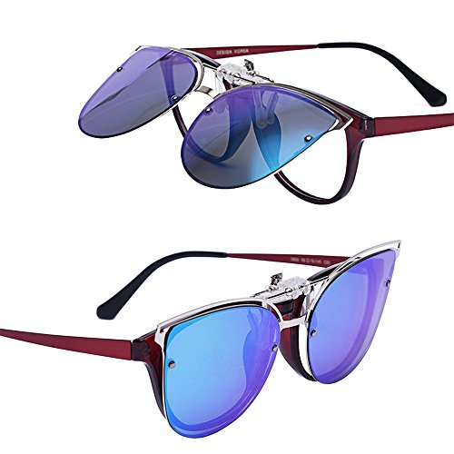 … Gradientgreen Polarized Outdoor Driving Flip Exquisite Clip Sport Women's Cat up Sunglasses Travel on Sunglasses Teraise Eye on Clip qTCwUBp