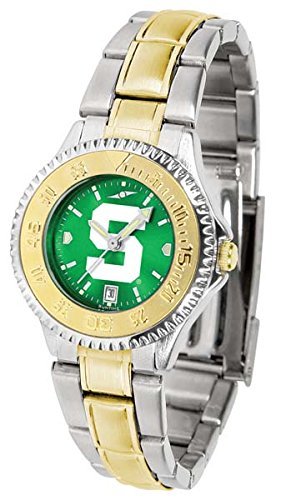 Michigan State Spartans Competitor Two-Tone AnoChrome Women's Watch ()