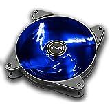HBT+ AXE 120 High Performance System Case Fan, Blue LED Light, 120mm PWM, Auto-adjust PWM Fan Controller, Fluid Dynamic Fan, Noise Reduction, Unique Blade Design, Anti Vibration pads. (TF-A1225-PBV1)
