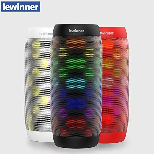 Portable Bluetooth Speaker,Lewinner Portable Bluetooth Speaker colorful Waterproof LED Portable Bluetooth Speaker BQ-615 Wireless Super Bass Mini Speaker with Flashing Lights FM