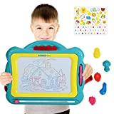 magnet drawing board with stamps - NextX Magnetic Drawing Board Write and Learn Creative Toy (Blue-Yellow)