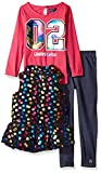 Limited Too Little Girls' Fashion Top, Vest Legging Set (More Styles Available), Multi Print, 6