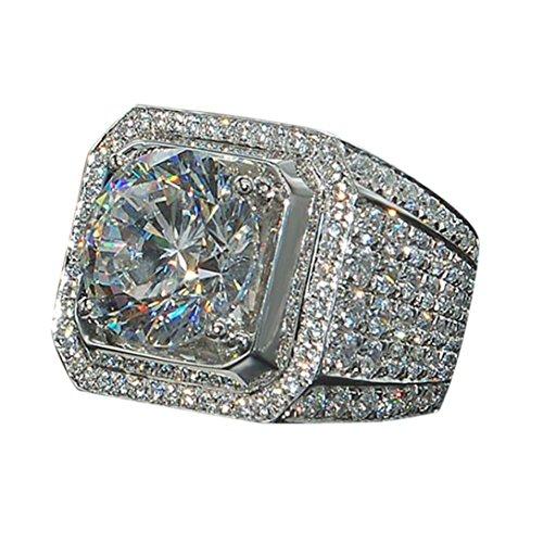 - Platinum-Plated Sterling Silver Swarovski Zirconia Cushion Halo Ring (7)