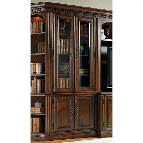 Hooker Furniture European Renaissance II Glass Door Bookcase in Cherry -