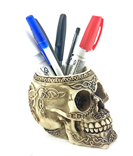 (Bellaa 21000 Celtic Knot Skull Pencil Holder 5