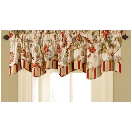 Area License Trim (Waverly 11396050X016PPY Charleston Chirp 50-Inch by 16-Inch Window Valance, Papaya)