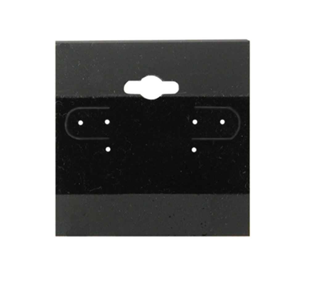 1 X Earring Display Hang Cards Black Flocked 2 X 2 Inch 100 Cards