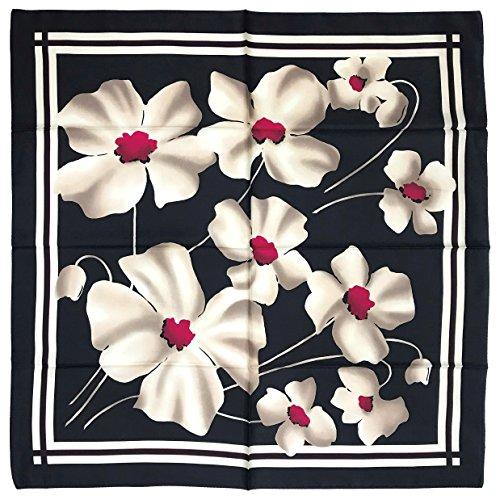 MARUYAMA 실크 스카프 Silk Scarf, ST889781 Grand Poppy,일본제(MADE IN JAPAN),실크 능직, 88x88cm,브랜드 케이스 들어감