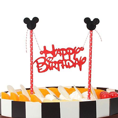 Happy Birthday Cake Bunting Banner Cake Topper -