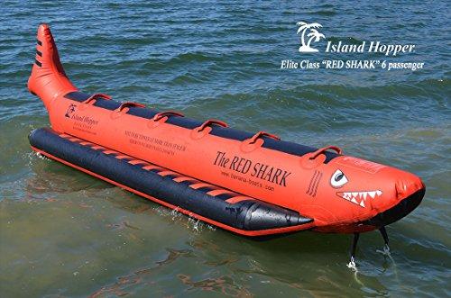 Island Hopper Red Shark 6 Passenger Inline Elite Class Heavy Commercial Banana Boat