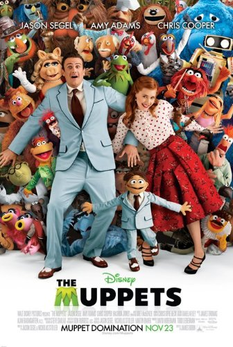 THE MUPPETS MOVIE POSTER 2 Sided ORIGINAL 27x40 JASON SEGEL AMY ADAMS DISNEY