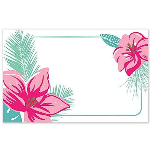 Tropical Flowers Enclosure Cards/Gift Tags - 3 1/2 x 2 1/4in. (100)