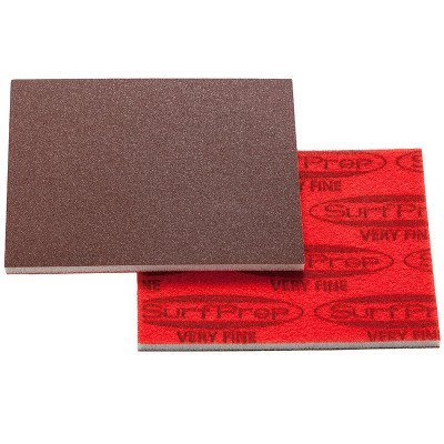 3''X4'' RED A/O FOAM PAD 220-240 FINE 25/BX by SURFPREP
