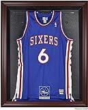 Philadelphia 76ers Mahogany Finished Logo Jersey Display Case