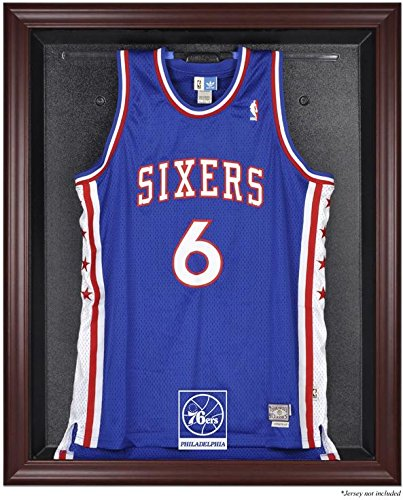 Philadelphia 76ers Mahogany Finished Logo Jersey Display Case by Sports Memorabilia