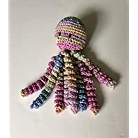 Crochet Octopus for Preemies, Crochet Octopus for Babies in Variegated Yellow, Pinks and Blues, Crochet Amigurumi