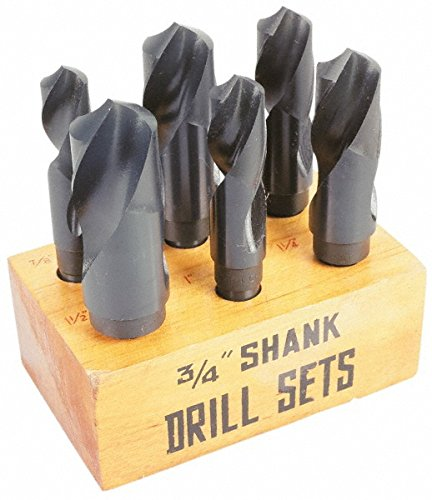 Interstate - 7/8 to 1-1/2 Inch, 118¡ã; Point, Oxide Finish, High Speed Steel Drill Bit Set 1347004