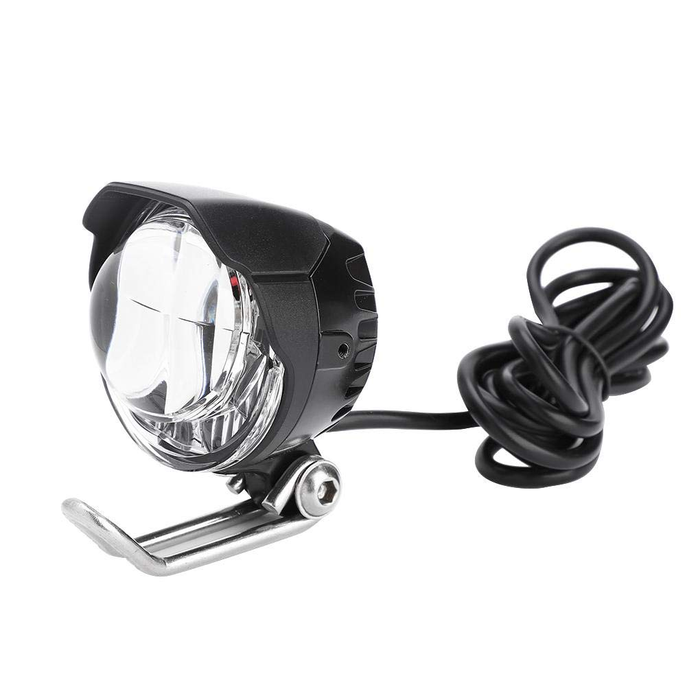 Dilwe E-Bike Front Lamp, 12V-18V Universal Voltage 2 in 1 LED Bicycle Handlebar Light Horn Accessory for Electric Bicycle E-Bike
