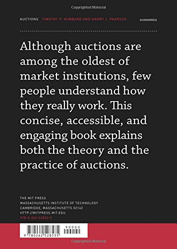 Auctions Mit Press Essential Knowledge Timothy P Hubbard Harry J Paarsch 9780262528535 Amazon Books
