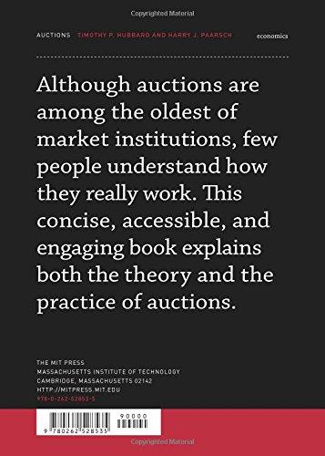 Auctions Mit Press Essential Knowledge Timothy P Hubbard Harry J Paarsch 9780262528535 Amazon Books