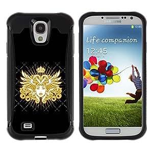 All-Round híbrido Heavy Duty de goma duro caso cubierta protectora Accesorio Generación-II BY RAYDREAMMM - Samsung Galaxy S4 I9500 - Goddess Golden Queen Art Royal Woman