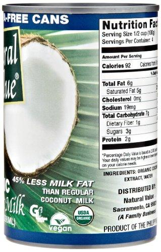 Natural Value Organic Coconut Milk Canada