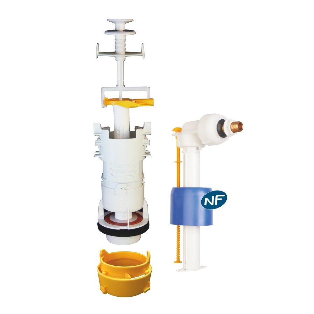 Regiplast mecad oro 31500 conjunto mecanismo de tirador con grifo flotador hidráulico, color blanco, Set de 4 piezas: Amazon.es: Bricolaje y herramientas