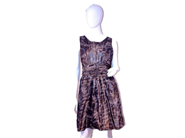 Pink Tartan Women's Empire Waist Dress, 14