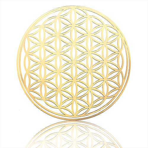『うさやusa-ya』 from Japan Flower of Life Metal Sticker 1.81 Sacred Geometry
