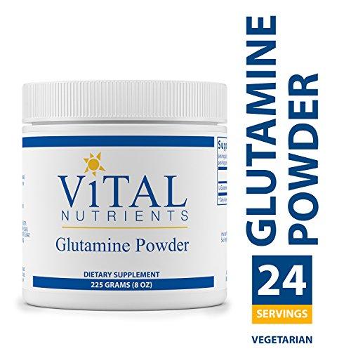 Vital Nutrients - Glutamine Powder - Gastrointestinal and Immune Support - Vegetarian - 225 Grams (Vital Nutrients Glutamine Powder)