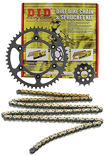 D.I.D MXH-006OEM 520DZ2 Gold Chain and 13 Teeth/48 Teeth Sprocket Kit