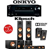 Klipsch RP-280F 5.1.2-Ch Reference Premiere Dolby Atmos Home Theater System with Onkyo TX-NR777 7.2-Ch 4K Network AV Receiver