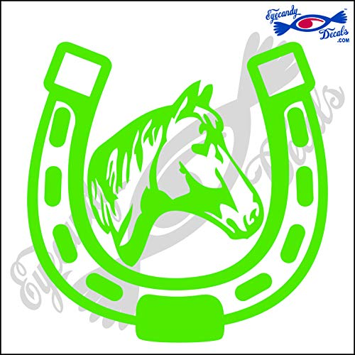 Eyecandy Decals Horseshoe with Horse Head Rodeo 5