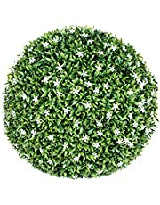Esfera Decorativa Jazmin, Verde y Blanco, 38 cm altura, Catral 72050021