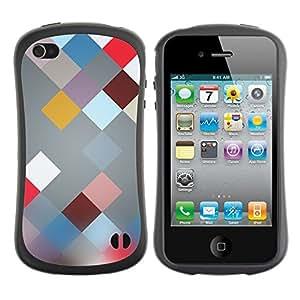 Fuerte Suave TPU GEL Caso Carcasa de Protección Funda para Apple Iphone 4 / 4S / Business Style Plaid Abstract Pattern Blur