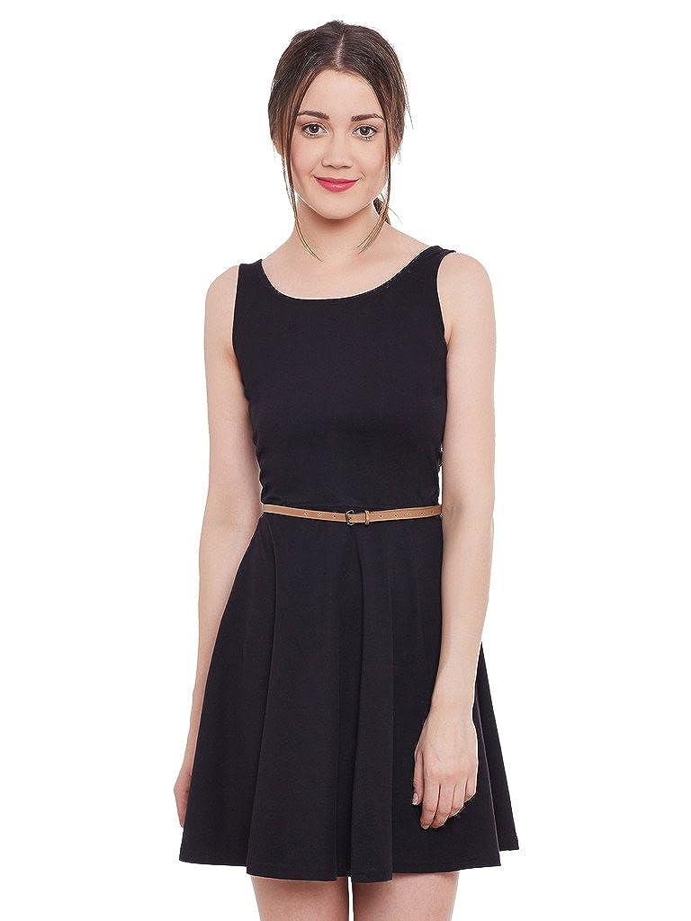 Miss Chase Women's Black Mini Skater Dress