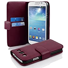 Cadorabo - Book Style Wallet Design for Samsung Galaxy MEGA 5.8 (I9150) with 2 Card Slots and Money Pouch - Etui Case Cover Protection in PASTEL-PURPLE