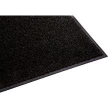 Guardian Platinum Series Indoor Wiper Floor Mat, Rubber with Nylon Carpet, 3'x5', Black