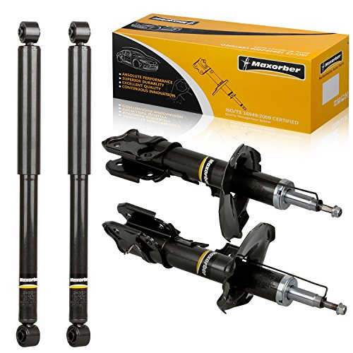 Maxorber Full Set Shocks Struts Absorber Kit Compatible with Nissan Pathfinder,Infiniti QX4 1999 2000 2001 Shocks Absorber 335030 335031 343379 343379 Front Rear Set Shocks