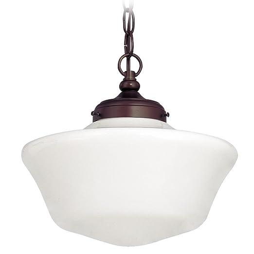 Amazon.com: 12-Inch Schoolhouse lámpara de techo colgante de ...