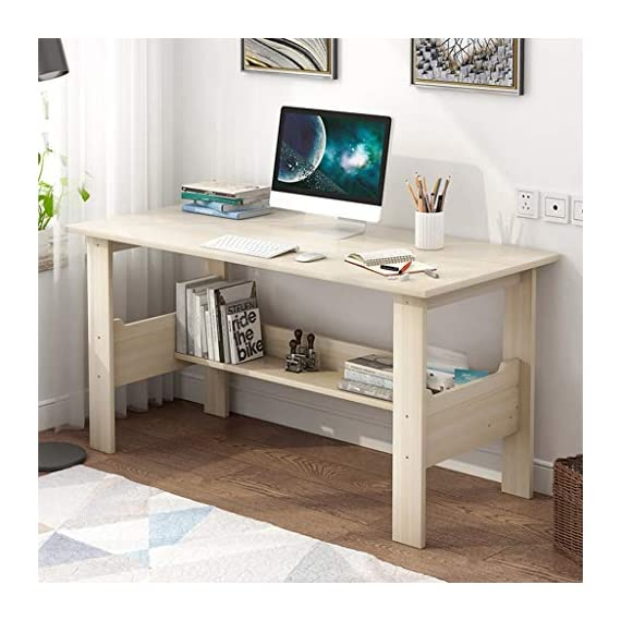 """Computer Desk with One-Tier Storage Shelves, Modern Large Office Desk Computer Table Studying Writing Desk Workstation with Bookshelf and Tower Shelf for Home Office (White) - Fast shipping: You will receive the product in 3 - 5 days after you purchase. Package will be shipped from East Coast Area or West Coast Area By FedEx & DHL.The biggest two of our warehouses are located in Orlando and Los Angeles. Large Desktop: L*39.4 x W*17.7 x H*28.3 inches(100x45x72CM),the computer desk has strictly quality checking before packaged.It's extremely sturdy and easy to clean, rag cleaning is enough SUPER DURABLE & STABLE: 0.85"""" thick MDF board is water & dust resistant and easy to clean. Foot pads not only can be used in uneven ground to prevent scratches, strengthen the stability, but also make adjustment of height to meet your various demands. - writing-desks, living-room-furniture, living-room - 51TMtoOXgXL. SS570  -"""